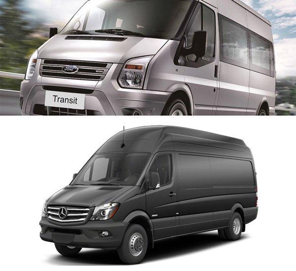 So sánh ford transit và mercedes sprinter trong cùng phân khúc về ngoại nội thất