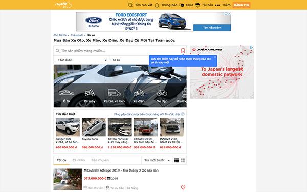 Top 7 web mua bán ô tô cũ uy tín nhất