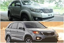 Đánh giá về Toyota Fortuner máy dầu và Kia Sorento