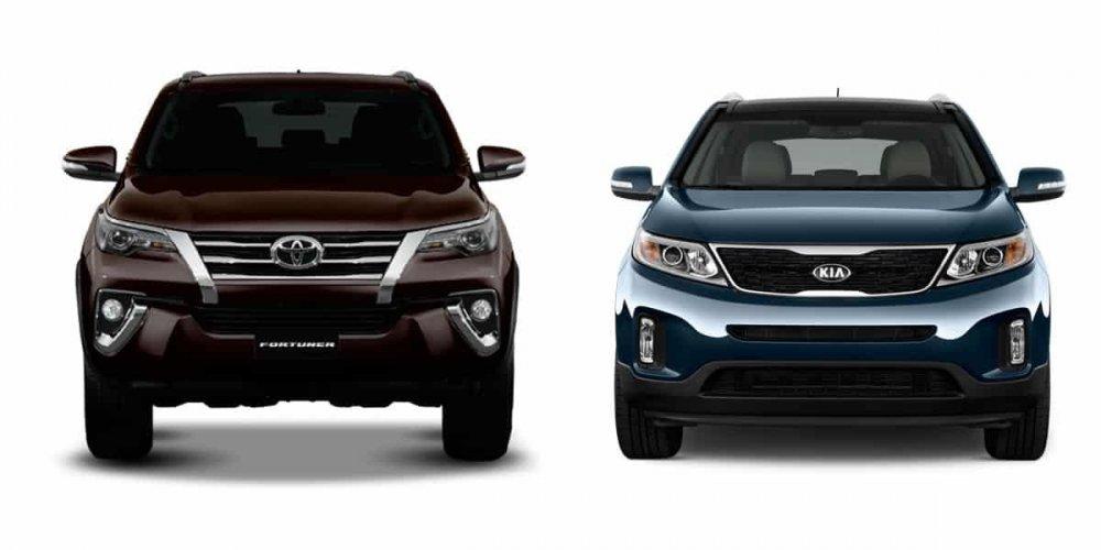 So sánh Kia Sorento 2021 và Toyota Fortuner 2021 | Toyota An Giang