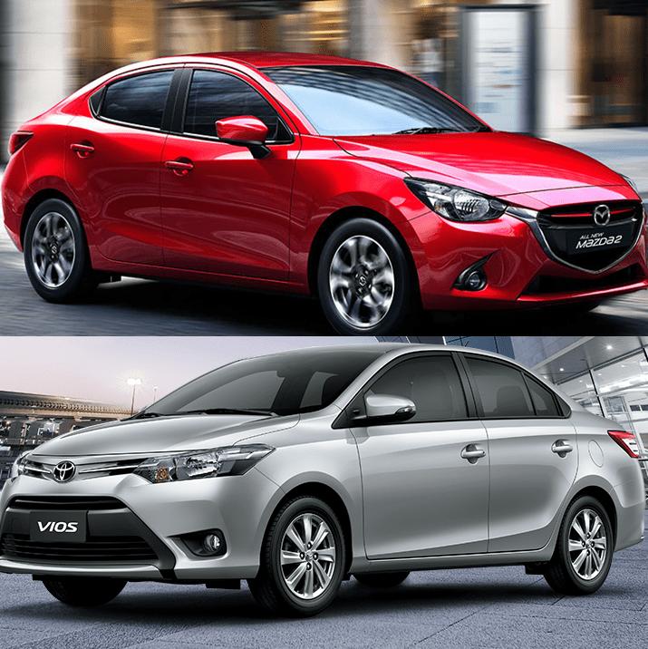 So sánh xe Mazda2 2018 và Toyota Vios 2018 có giá bán dưới 600 triệu đồng